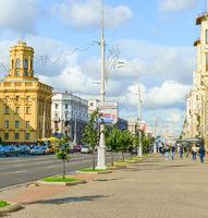 Independence avenue Minsk street people