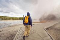 Tourist in Yellowstone