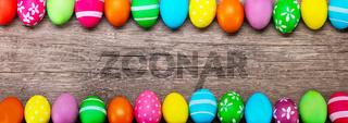 Easter egg on wooden board