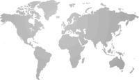 Gray similar world map blank for infographic isolated on white background. Vector illustration.
