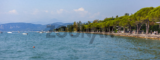 Garda panorama view from Lazise in Italy 2