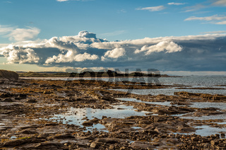 Clouds over the Northumberland coast