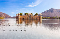 Jal Mahal or the Water Palace, beautiful sunny day view, Jaipur, India
