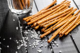 Salty sticks. Crunchy pretzels.