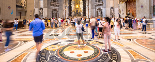 Over-tourism in Saint Peter Basilica, Vatican State