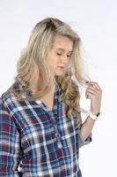 Beautiful Blonde Model Posing In A Studio Environment
