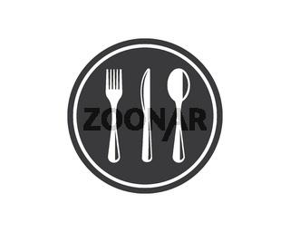 fork,knife logo vector illustration