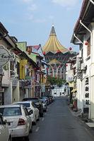 Im alten chinesischen Viertel von Kuching, Sarawak, Borneo, Malaysia