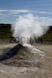 Schwefelfumarole auf Island