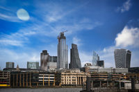 A view across the River Thames to the skyline of London