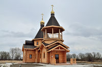 Kaliningrad, Russia - March 9, 2019: Church in honor of St. Spyridon of Trimifuntsky