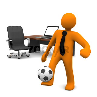 Manikin Office Notebook Football