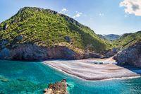 The beach Petali in Evia, Greece