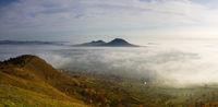 Misty morning in Central Bohemian Highlands, Czech Republic.
