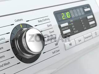 Control panel of washing machine.