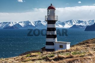 Lighthouse on Pacific Coast of Kamchatka Peninsula
