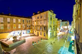 Dalmatian town of Zadar stone square