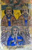 Königsbrüder Abreha and Atsbeha, Canvas Gemälde, Kirche Abreha wa Atsbaha, Gheralta, Äthiopien