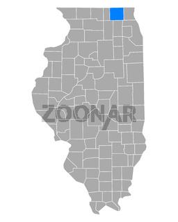 Karte von McHenry in Illinois - Map of McHenry in Illinois