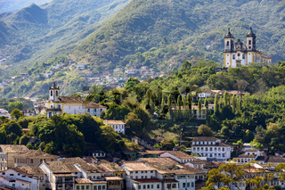 View from the top of the historic center of Ouro Preto