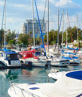 Marina, ychts, motorboats, Larnaca, Cyprus