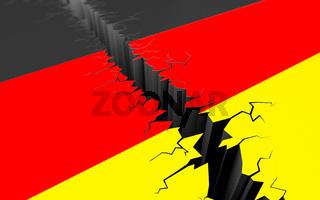 Deutschland gespalten