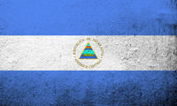 The Republic of Nicaragua National flag. Grunge background