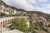 Scenic view of picturesque Arachova village in Greece