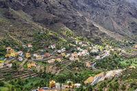 Blick in das Valle Gran Rey auf La Gomera