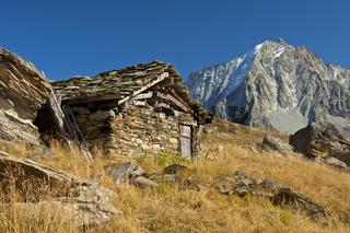 Schäferhütte im Val d'Hérens, Schweiz