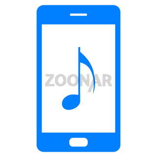 Note und Smartphone - Music note and smartphone