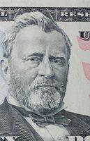 Portrait of Ulysses Grant on a 50 dollars bill