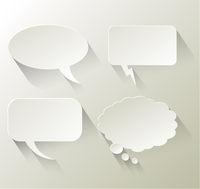 Speech Bubble Background Illustration