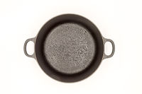 Cast iron pan with two handles top view