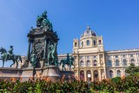 Maria Theresia monument and Natural History Museum , Vienna, Austria