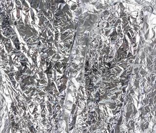 crumpled gray foil texture, full frame