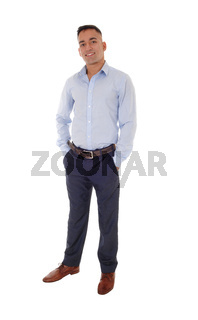 Young man standing with his hands in his pocket