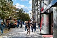 Einkaufsstraße im Zentrum von Prag
