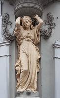 Female statue in Vienna
