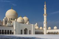 The Inner courtyard of Sheikh Zayed Grand Mosque