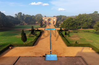 Humayun's Tomb main gate view, New Delhi, India