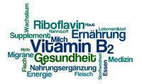 Word Cloud on a white background - Vitamin B2 (German)