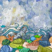Sea Exotic Pattern