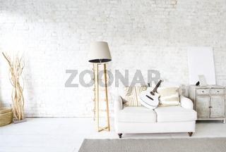 Interior of stylish spacious room
