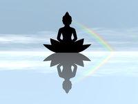 Buddha meditating - 3D render