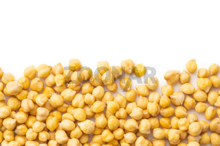 Healthy cooked chickpeas