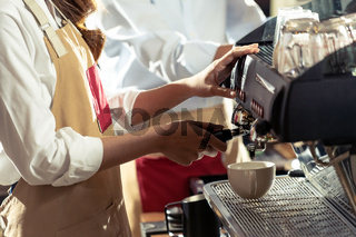 Barista working cafe