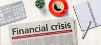 Newspaper on a desk -  Financial crisis