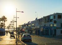 Shopping street Paphos promenade people