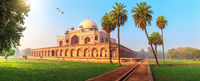 Humayun's Tomb, a famous UNESCO object in New Delhi, India